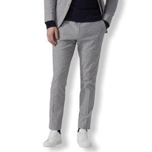 Frank and Oak Kendall Slim Pants Grey Herringbone